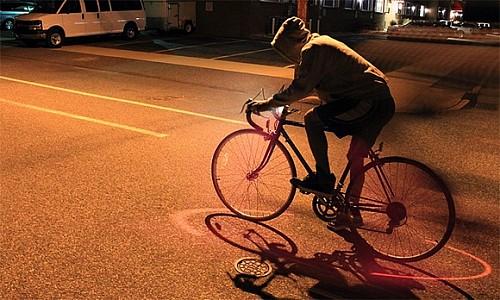自行车激光投影灯
